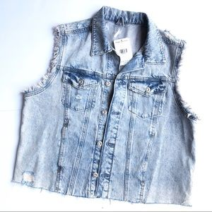 Free People Demin Vest. NEW size S